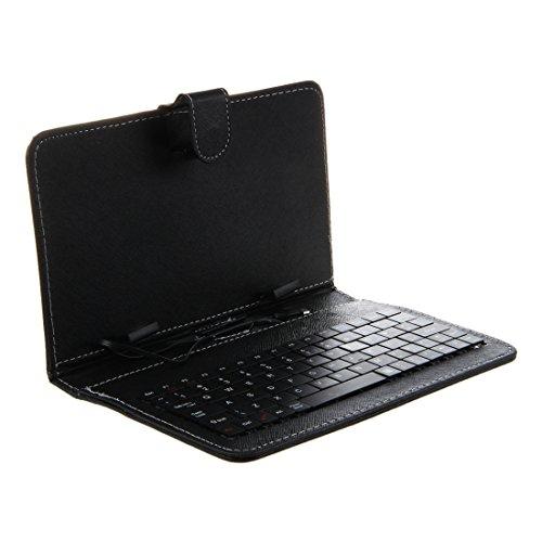 Gesh Funda protectora con teclado USB + cable USB M/F para tablet PC de 7', color negro
