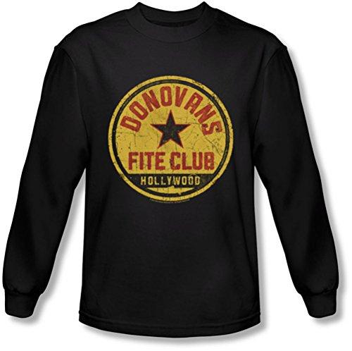 Ray Donovan - - Fite club à manches longues T-shirt pour hommes, Large, Black