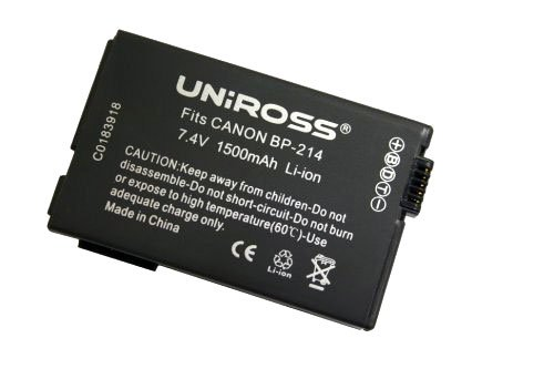 Uniross u0183802 Batterij/accu/oplaadbare accu (Sovjet-Unie, 1500 mAh, 7.4 V, 77 g, zwart)