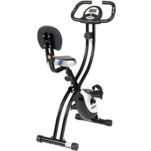 Care Fitness - Vélo d'Appartement Pliable SV-314 STRIALE - Freinage Magnétique - 8 Résistances Manuelles - Masse d'Inertie 4kg - Cardiofréquencemètre - Vélo Appart Pliable