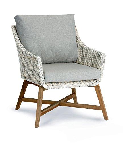 BEST Lounge-Sessel Paterna, teakholz/alabaster, 88 x 65 x 82 cm, 41391504