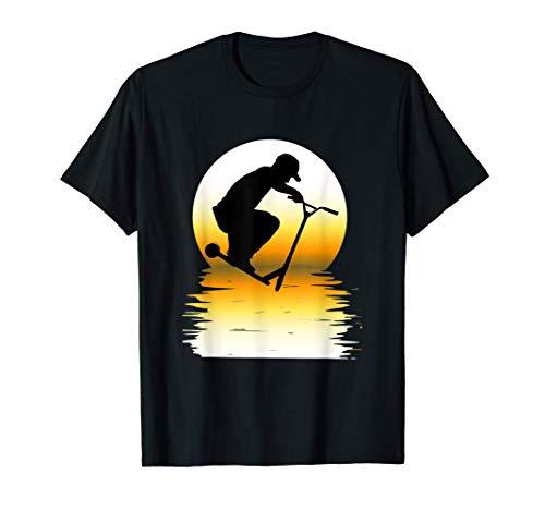SUN TRUCOS DE PATADA CON SCOOTER STUNT SCOOTER TRICKS RETRO Camiseta