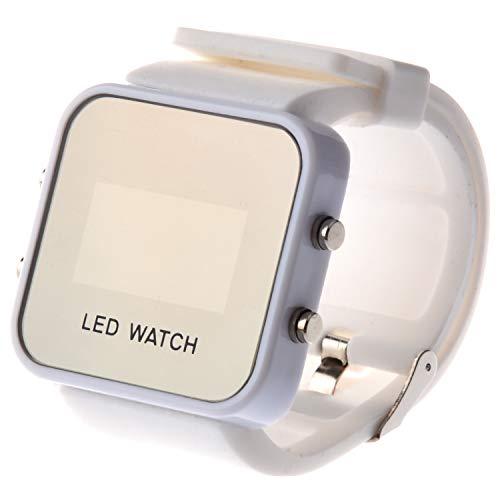 Rayocon Reloj LED Digital Unisex Deportivo (Solo Blanco)