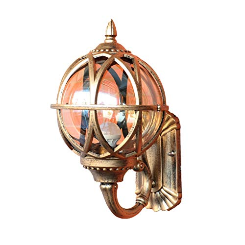 TYFUI Iluminación esférica para Exteriores Lámparas de Pared para Exteriores Luces de Pilar Lámpara de Cabeza de Columna Luz de Paisaje Led Lámpara de Pilar de jardín Impermeable