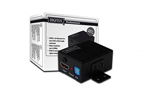DIGITUS HDMI Repeater - Full HD bei 24 Hz - bis zu 35 m Reichweite - 3D Unterstützung - HDCP Durchleitung - kompaktes Gehäuse - schwarz
