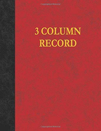 3 Column Record: 100 Page Account Book