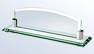 Deluxe Glass Name Plate with Free Engraving