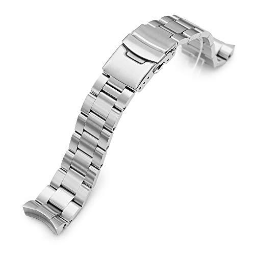 Cinturino di ricambio Super Oyster 20mm, per Seiko, misura media, Diver SKX023, chiusura diver, spazzolato