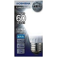 ルミナス LED電球 フロストタイプ 全配向 60W相当 昼光色 884lm 口金E26 LDOA60D-GF