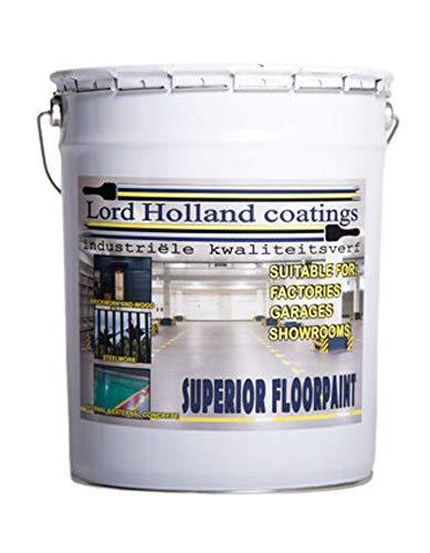 Pintura de suelo de poliuretano ultrarresistente 20 litros negro ral 9005