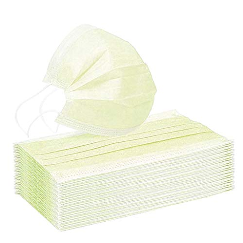 20/40/60/90/120piezas_M_ascarilla_Desechable Sólido Adultos Protección bucal 3 capas Respirable Con gancho elástico Protecciones Color sólido Para uso en exteriores