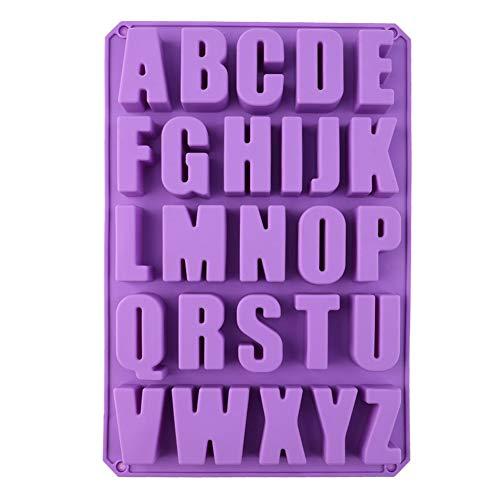Henreal DIY 26 Buchstaben in Form von Silikon-Gelee, Schokoladenform, Eiswürfelform, Dekoration, Werkzeug