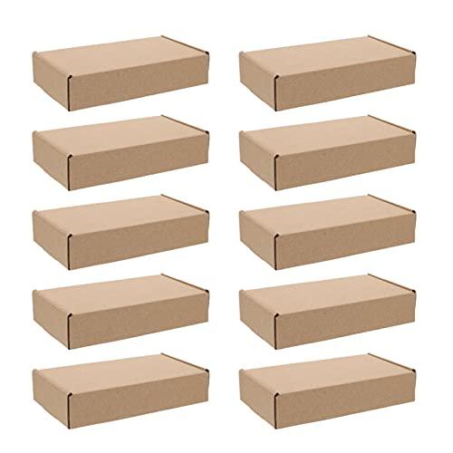 Cabilock 20 Pzas Caja de Envío Caja de Cartón Corrugado de Correo de Papel Cajas de Regalo de Navidad para Envíos Pequeños 20X10x4cm