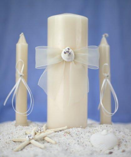 Directly managed Great interest store Rhinestone Shell Hawaiian Beach Wedding Set: Unity Candle