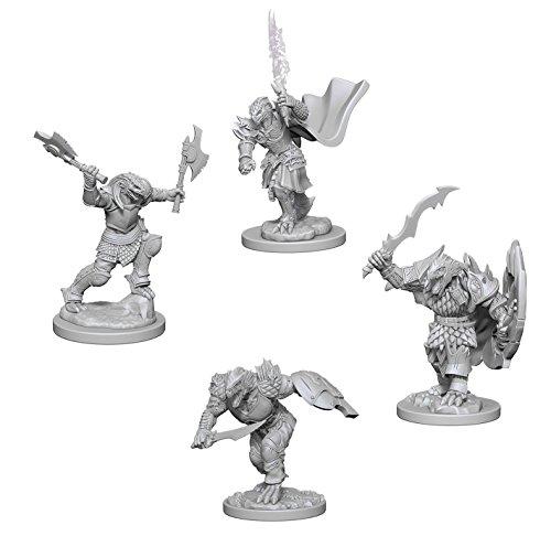 Dungeons & Dragons Nolzur's Marvelous Unpainted Miniatures Bundle: Dragonborn Male Fighters & Dragonborn Female Fighters