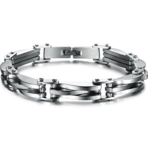 OSTAN - Gotik 316L Edelstahl Armbänder Herren - Neue Mode Schmuck Armschmuck, Silber