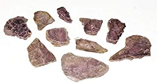 10pc Shiny Raw Purple Mica Lepidolite Semi-Translicent Small Multi-Layered Sheets & Mini Slices 100% Natural Healing Crystal Gemstone Specimens from Brazil