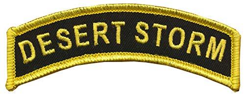"CVMA Style TAB -""Desert Storm"" - 1"" X 3 1/2"" - Desert Storm Combat Veteran Tab - Wax Backing with Merrowed Edge - Desert Storm/Desert Shield - Combat Veteran Motorcycle Association - Desert Shield"