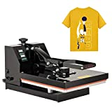 15X15 Heat Press- Nurxiovo T Shirt Printing Machine, Digital Heat Transfer Industrial Quality Power Press Machine, 1200W Sublimation Clamshell Heat Press for T Shirts, Mouse Pads, Tablecloth
