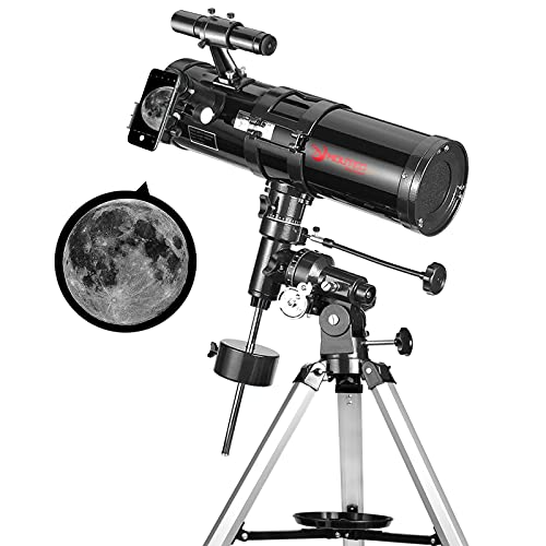 Moutec Telescope, 114mm Aperture Telescopes for Adults Beginners, 500mm Focal Length, Manual German Equatorial Mount, Professional Reflector Telescope with Adjustable Tripod Ideal for Manual Tracking