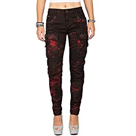 Cipo & Baxx Women's Slim Jeans Grey Grey