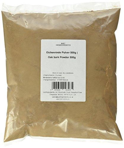 JustIngredients Eichenrinde Pulver, Oak bark Powder (1 x 500 g)