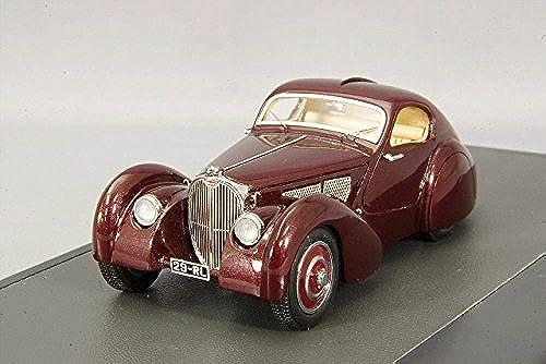 Bugatti Type 51 Dubos Coupe, dunkelrot, RHD, 1931, Modellauto, Fertigmodell, Matrix 1 43