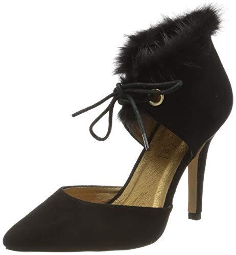 El Caballo Doña Blanca, Zapato de tacón Mujer, Negro, 37 EU