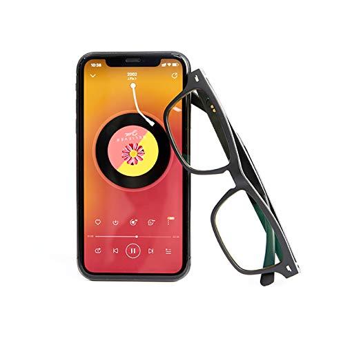 Occhiali Bluetooth a Conduzione Ossea, Occhiali per Chiamate Vocali e Registrazione con Funzione di Trasmissione Audio Direzionale, Impermeabili, Viaggi All'Aperto in Ufficio Adulti Bambini,Grigio