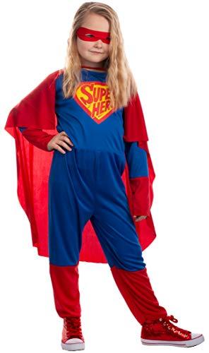 Brandsseller Kinder Kostüm Verkleidung für Karneval Fasching Halloween - Superheld M