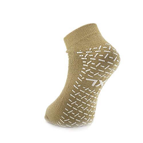Double Tread Slipper Socks/Fall Prevention Socks- Beige (Pair) - Size:...