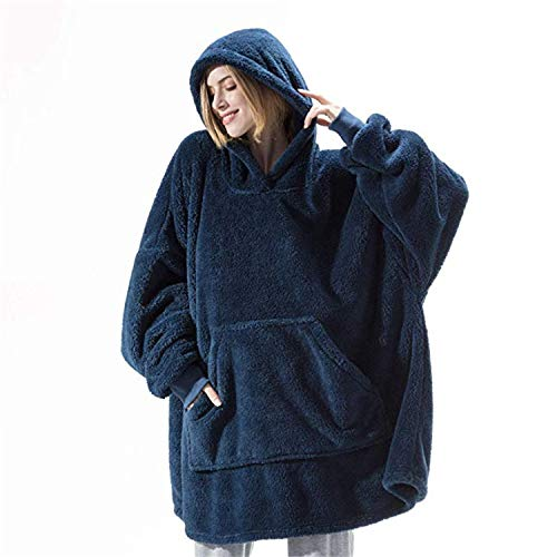 Oversized Wearable Blanket with Sleeves and Foot Pockets, one Size fits All,Super Warm Cozy Throw for Men and Women
