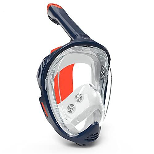 ZBYD Dult Scuba Diving Mask Full Face Anti Fog Submarino Amplio Vista de Snorkel Mascarilla A Prueba de Agua Mascarilla Mascarilla Equipo de Buceo 424 (Color : Orange, Size : Large)