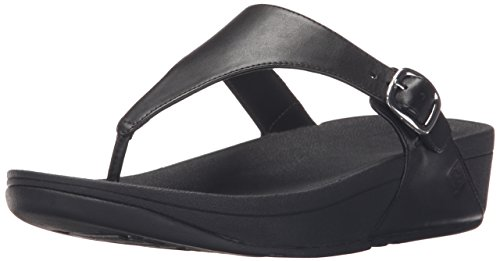 FitFlop Women's The Skinny Flip Flop, All Black, 11 M US