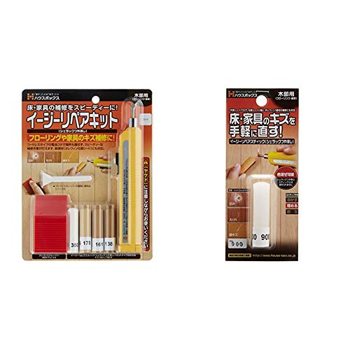 House Box Easy Repair Kit, Light, For Repairing Scratches of Worried Floors, Easy Repair Stick (Shellac Brushed) No. 900