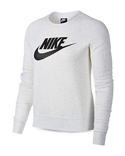 Nike Sportswear Essential Damen-Sweatshirt aus Fleece mit Rundhalsausschnitt, Damen, Birke Heather, Medium
