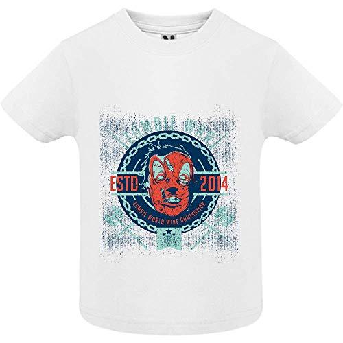 LookMyKase T-Shirt - Zombie War - Bébé Garçon - Blanc - 12mois