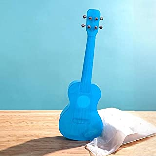 Toys 23 Inch Veneer Ukulele Little Guitar (Pink) (Color : Blue)