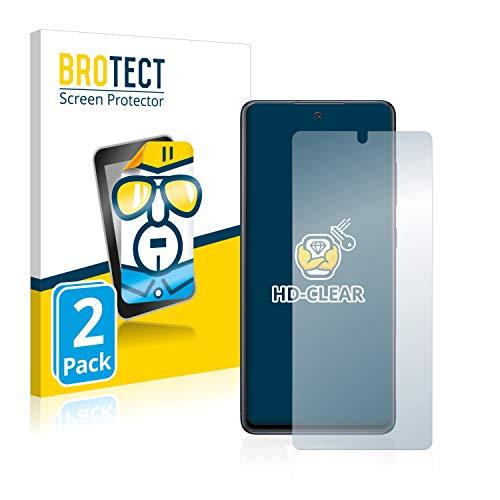 BROTECT Schutzfolie kompatibel mit Samsung Galaxy S20 FE (2 Stück) klare Displayschutz-Folie