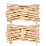 Mini caballete de exhibición de madera de 20 piezas, con superficie natural,...