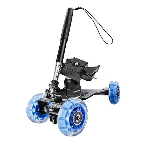 Walimex Pro Video Kamera Dolly Set Basic inkl. Kamerawagen mit Teleskoparm und Kugelkopf für Kamerafahrten