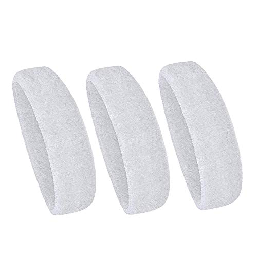 Omenluck 3 Pack de Bandas elásticas Antideslizantes para el Pelo Que Absorbe la Humedad para Hombres y Mujeres