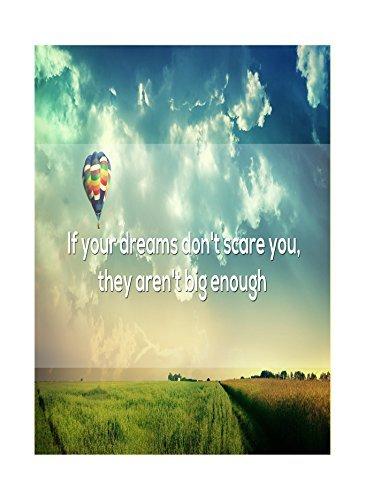 Als je dromen je niet schelen ze zijn niet groot genoeg druk hete lucht ballon hemel wolken velden foto inspiratie moti