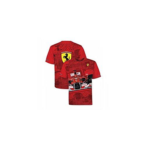 Ferrari Camiseta Hombre Fernando Alonso Casco Rojo Talla L