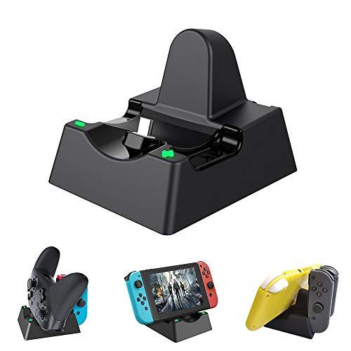 Nintendo switch ドック スイッチ 充電スタンド ニンテンド ポータブル usbハブスタンド Joy-con Pro コントローラーと互換性のある高速充電スタンドステーション充電インジケーターとType C 充電ケーブル付き