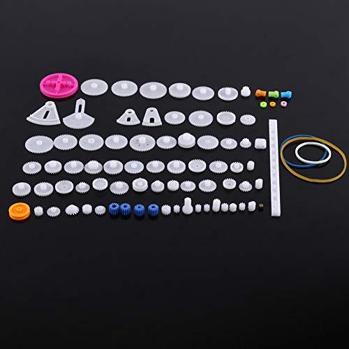 Conjunto de Engranajes de Plástico, Kits de Gusanos de Correa de Polea, Conjunto de Engranajes de Corona, Piezas de Bricolaje de Juguete de Motor de Robot(The essence of 85 kinds of gear pack)