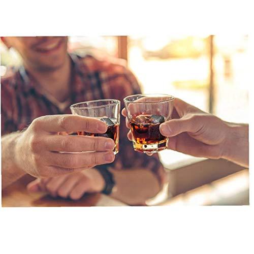 Romote 8pcs Whisky-Steine ??umweltfreundlicher Granit Eiswürfel Whisky-Steine ??Eiswürfel Rock Handcrafted Granit Getränke Chilling Cubes - 2