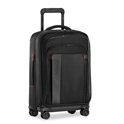 Briggs & Riley ZDX-Expandable Luggage with 4 Spinner Wheels, Black, Carry-On 22-Inch