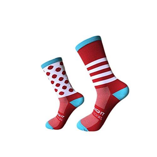 Calcetines, para exteriores, ciclismo, pies izquierdo y derecho, de rayas puntiagudos, para baloncesto, para hombres, mujeres neutral.masculino y femenino