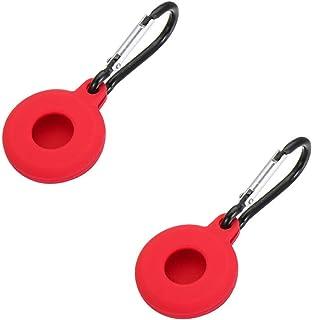 2 pièces Housse en Silicone Souple pour Apple AirTags, Support de traqueur étanche avec Coque de Protection de Porte-clés ...